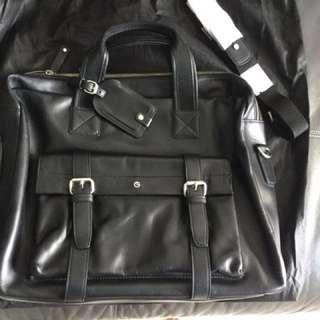 Goldlion Leather Office Bag