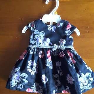 Oskosh Carters Newborn Dress In Black