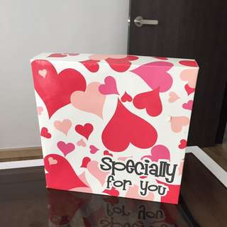 Christmas specially for you hearts pink gift box