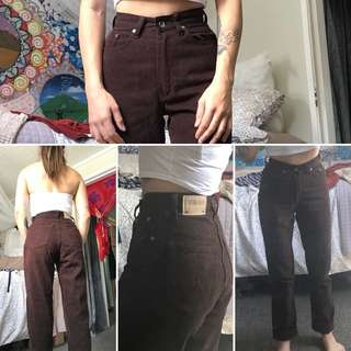 Dark brown Retro Denim