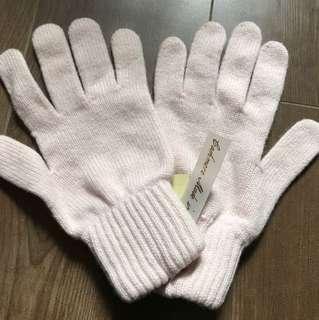 英國品牌 TieRack 粉紅cashmere手套 pink cashmere gloves