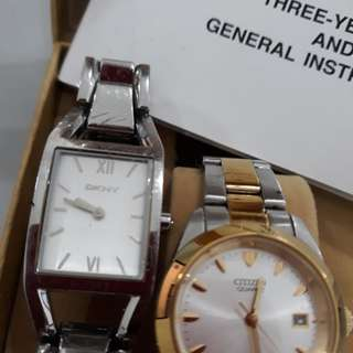 Orig. Citizen and DKNY watch