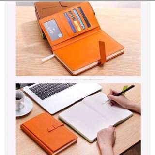Planner with card organizer