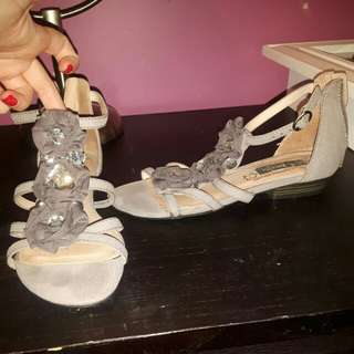 Taupe sandals