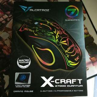 Brand new Alcatroz X-Craft Z7000 gaming mouse