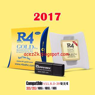 [BNIB] R4 Gold Pro 2017 for 3DS / 2DS / DS (Brand New Boxed)