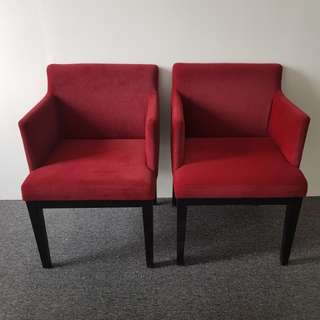 Red Arm Chair Set