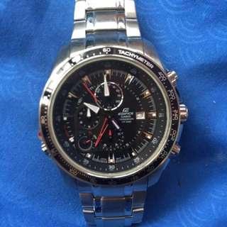 Casio Edifice EF 545D 1AV Men Black Dial Stainless Steel Watch