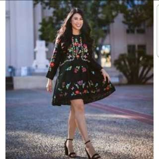 Repriced Zara embroided floral dress