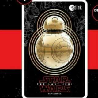 Star Wars bb8 ezlink card