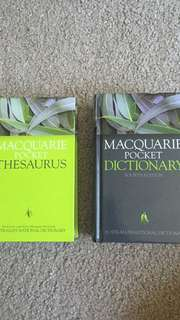 Macquarie pocket dictionary and thesaurus set