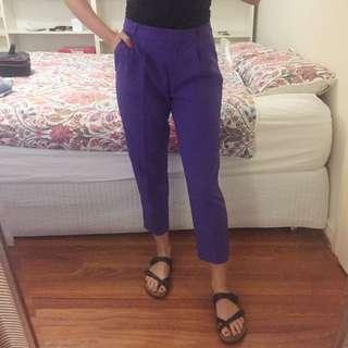 BNWT ASOS purple cigarette pants