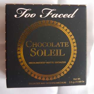 Too Faced Chocolate Soleil Medium/Dark Matte Bronzer