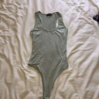 Grey / blue pretty little thing bodysuit