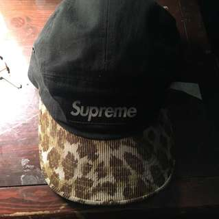 Supreme leopard brim hat *authentic*