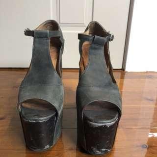 Black Jeffrey Campbell heels