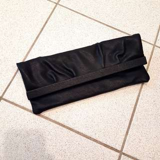 Rectangle long black clutch/ bag