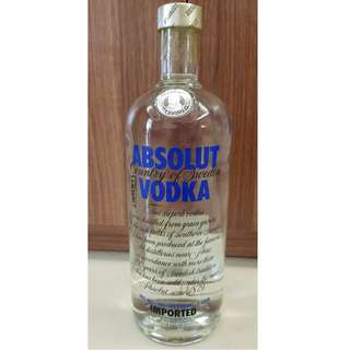 NEW Absolut Vodka - 1 Litre