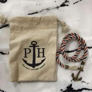 歐美品牌 船錨麻繩手鏈