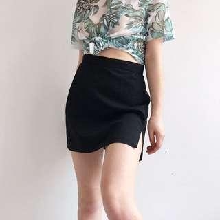 ASOS mini skirt with slit