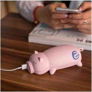小豬造型行動電源 萌豬 行動充 超大容量 療癒小物 iPhone 安卓 聖誕節 禮物 交換禮物 團購【RI373】