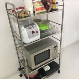 Portable shelf/ metal storage - 4wheels