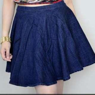 Zara Denim A-line skirt