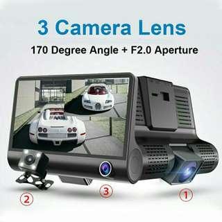 3-Camera Lens Car DVR Dash-Cam