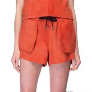 Jennifer Kate Suade Drawstring Shorts In Deep Red Colour