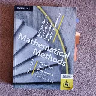 Cambridge Methods units 3&4