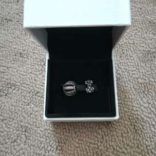 (RETIRED) Pandora Openwork Pave Barrel Charm + Wanda Garden Spacer