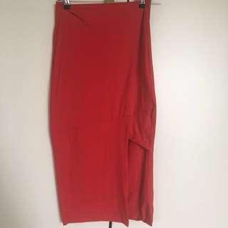 Red Kookai Skirt Midi