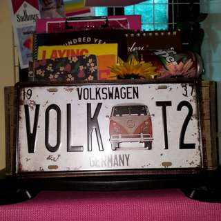 Volkswagen Combi Tin Plate // for room decor