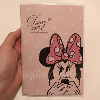 Disney Pink Minnie Mouse 2018 B6 schedule book planner diary journal agenda