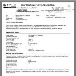 RWS hotel cheat