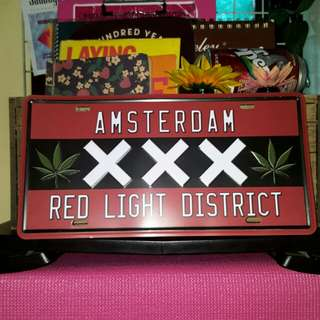 Amsterdam tin plate // for room decor