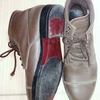 Handmade shoes leather