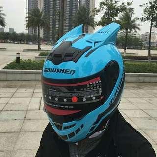 安全帽 helmet 全新 有角 可選色