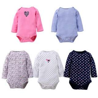 Carter's Fixed Design Long Sleeve Baby Girls 5 pcs