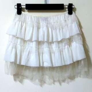 🚚 白色浪漫蕾絲紗裙