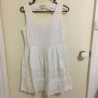 Lulu and Rose white dress size S