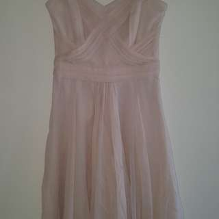 Forever New Pastel Pink Strapless Dress