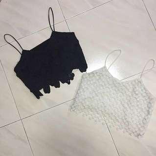 Crochet Spaghetti crop Top