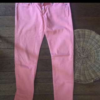 Peach colored soft denim (M)