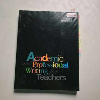 Academic and Professional Writing (for teachers)