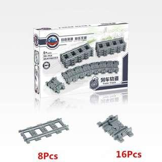 Lego compatible train tracks