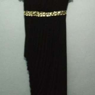 Long dress bahan  size XL