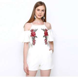 CHOCOCHIPS WHITE JUMPSUIT