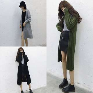 [PO] long knit cardigan