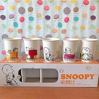 史努比漫畫水杯組(5入)#我的家飾可超取